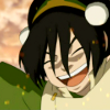delphi: A screenshot of Avatar: The Last Airbender's Toph smiling. (toph)