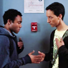 thingswithwings: troy and abed do their special handshake (comm - troy and abed special handshake)