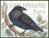unexpected_finn: Raven stamp from Finland (raven-suomi)