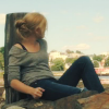 skieswideopen: Audrey Parker sitting on a dock, looking out over the water (Haven: Audrey)