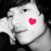 skywardprodigal: cock-eyed Gong Yoo with a heart on his face (gong yu-loverlike)