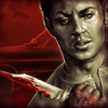 briarwood: Fic icon for When The World Is Burning - Dean Winchester with bloody knife (Fic WTWIB Dean)