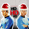 skywardprodigal: Spock and Bones wearing Santa hats (team supreme)