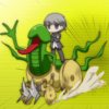 terabient: P4 Hero majestically riding a penis demon (P4: Mara)