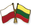 daigakulia: crossed Poland and Lithuania flags (Polska/Lietuva)