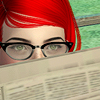 sixtylilies: azayasim peering over the top of a newspaper. (creeper azayasim)