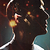 erika: Profile of Spock with a starry background bleeding through. (st aos: stars (spock))