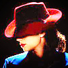 next_to_normal: Peggy Carter in profile, wearing a red hat (Peggy red hat)