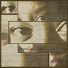 skywardprodigal: a mosaic with beautiful eyes and hint of a pretty mouth (meme)