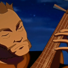 delphi: A screenshot of Avatar: The Last Airbender's Lt. Jee playing the pipa. (lt. jee)