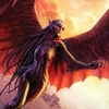 nenya_kanadka: woman with wings and talons flying (Raksura Jade)