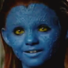 lilacsigil: Child Mystique, close up on face (Mystique baby)
