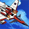 unfoldingwings: Starscream, in jet mode, flying (Default)