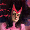 "lilacsigil: Scarlet Witch asleep, ""Kiss myself awake"" (Scarlet Witch)"
