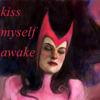 """lilacsigil: Scarlet Witch asleep, """"Kiss myself awake"""" (Scarlet Witch)"""