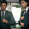 stripytights: (sam and dean suits)