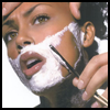 skywardprodigal: a lovely woman's face is being shaved with a straight razor (say what?!)