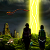 aberration: Korra and Asami walk together toward the Spirit Portal. (I'll bring you to your birthright)
