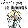 "megpie71: Simplified bishie Rufus Shinra says ""The stupid, it hurts"". (owie, BH7, Rufus2, stupid hurts)"