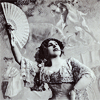 inevitableentresol: lady in Edwardian dress holding a fan (fan lady Edwardian music hall)