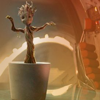 dapatty: Baby Groot in a white pot with it's arms out. (Dancing Groot)