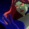 scrollgirl: m'gann with arm outstretched and eyes glowing red (dcu yj m'gann)