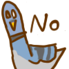 "thisfishflies: doodle of a pigeon with the word ""no"" (No pigeon)"