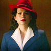 beck_liz: Peggy Carter in her red hat (Agent Carter red hat by such_heights)