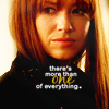 "mortalcity: Alt!Olivia, looking over her shoulder. Text: ""there's more than one of everything."" (Fringe 