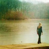 mortalcity: Olivia, alone on a pier. (Fringe | no more dreaming like a girl)