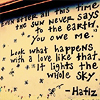 misslucyjane: poetry by hafiz (it lights the whole sky)