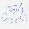 castiron: cartoony sketch of owl (owl) (Default)