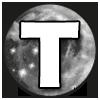 translucent_zine: T on grayscale nebula background (grayscale Translucent logo)