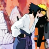swordage: Sasuke intimidating Naruto with his bare chest. (x narutoxsasuke)
