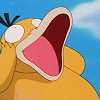 duck: Psyduck from Pokémon making a face (OMG!)