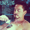 cloudsinvenice: Tony Stark removing his old arc reactor (Iron Man unplug)