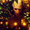 muccamukk: Groot surrounded by his own branches and glowing pollen. (GotG: Green Man)