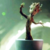 nenya_kanadka: dancing baby sprout Groot! (MCU Groot)