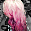 soulmush: long pink hair (pink hair)