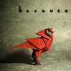 anti_climactic: origami red cardinal, singing. text overhead: 'because' (Default)