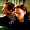 muccamukk: Edwin leaning back to look at Peggy, who is turning towards him. (AC: Companionship)