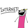 kaigou: Internet! says the excited scribble (2 Internet!)