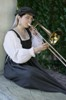 aedifica: Photo of me playing my trombone at the Renaissance Festival (Fest 2008 with trombone)