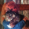 ext_162519: Photo of me holding a bobcat I raised (Applause)