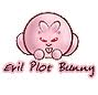 "wordmage: small round pink rabbit labelled ""evil plot bunny"" (plunny)"