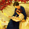 syntaxofthings: An old-time picture of a woman and child reading together. ([random] Reading together)