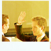 oxoniensis: harvey and mike, mike attempting a high five (fandom: suits high five)