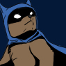 fleetsparrow: Drawing of Bear in a Batman costume, in her identity Bat-Bear. (Default)