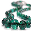skywardprodigal: strand of emerald beads (bling-opal egg)