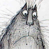 moultery: Perturbed-looking cat drawn by Ronald Searle (searle)